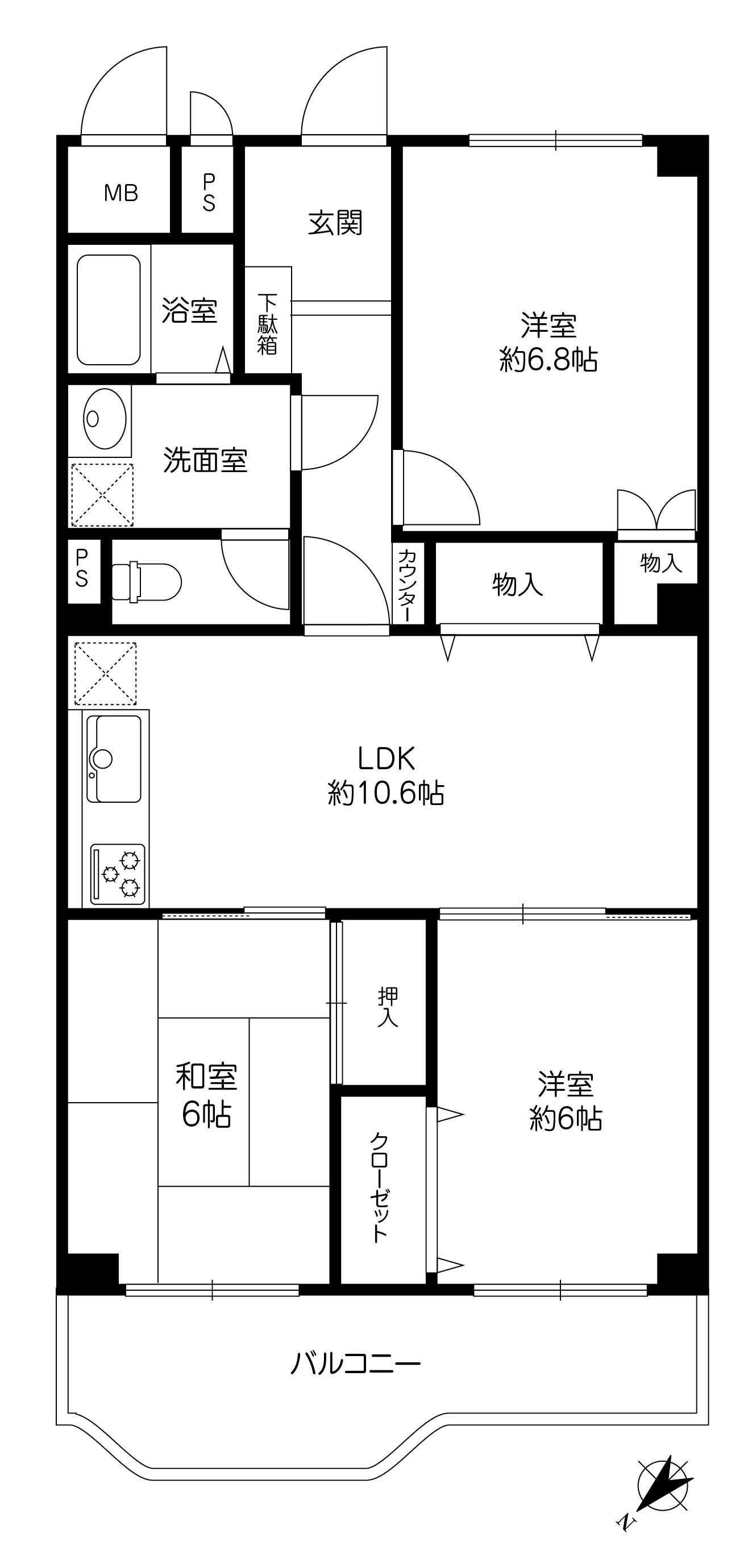【賃貸マンション】朝日ヶ丘レックスマンション